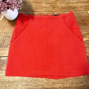 Burnt orange mid rise skirt